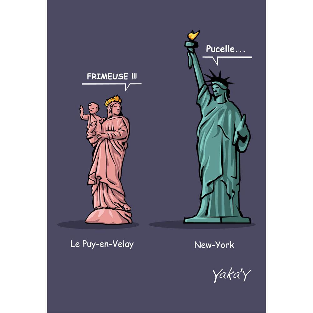 Carte postale023 Statues
