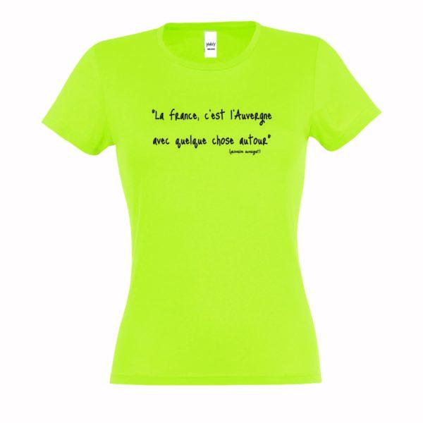 T-shirt Femme Proverbe auvergnat