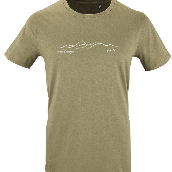 T-shirt bio Chaîne des volcans d' Auvergne