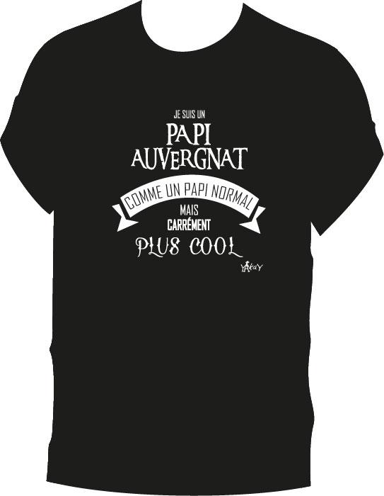 T-shirt papi auvergnat