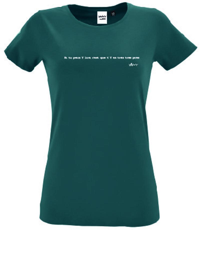 t shirt bleu canard