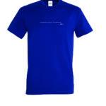 T-shirt bleu très très près