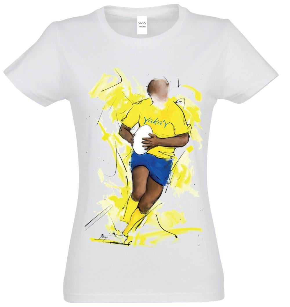 T-shirt F blanc En avant Yaka'y
