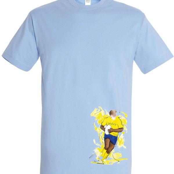 T shirt bleu En avant