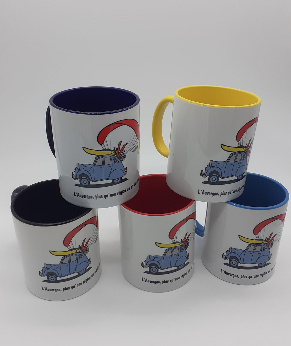 mug 5 couleurs