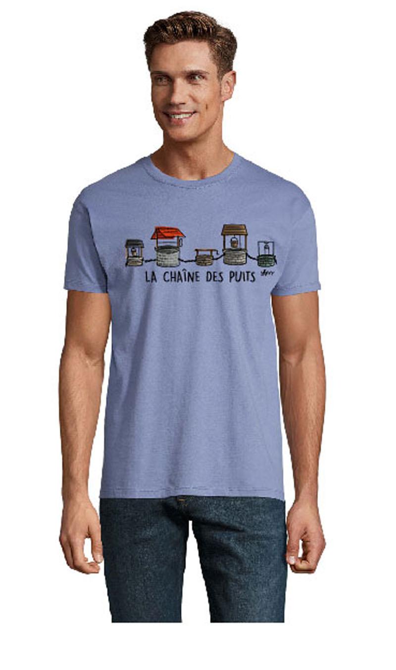 t shirt bleu chaine des puits