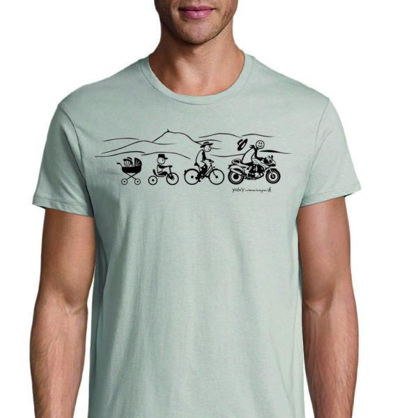 t-shirt moto gris