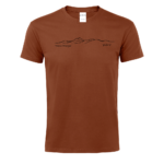 TSHIRT TERRACOTTE CHAINE VOLCANS