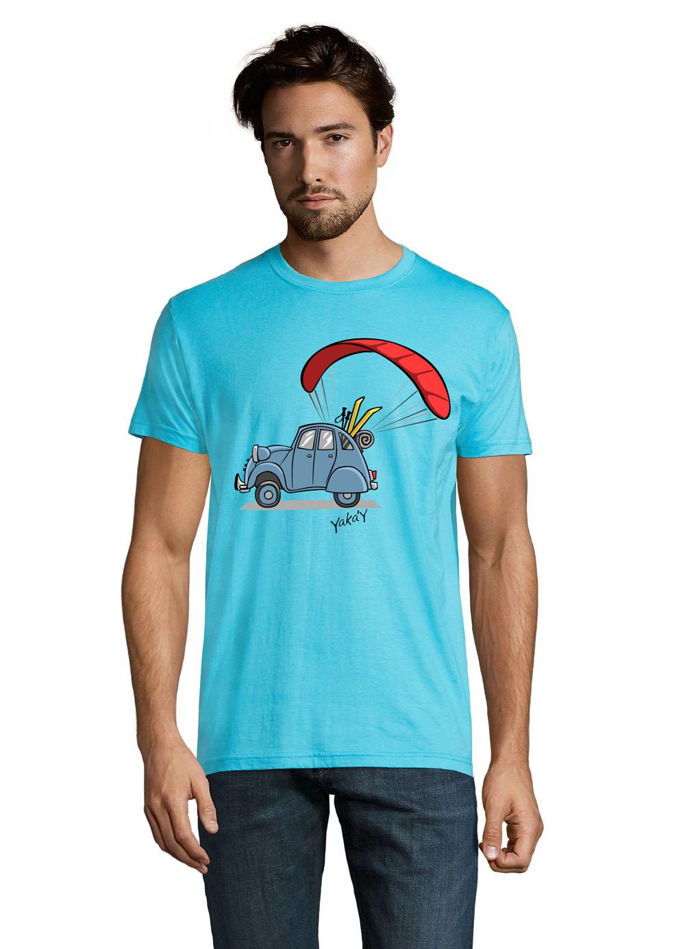t-shirt 2cv bleu atoll