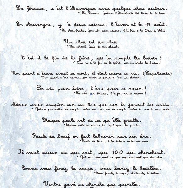 carte postale proverbes et dictons
