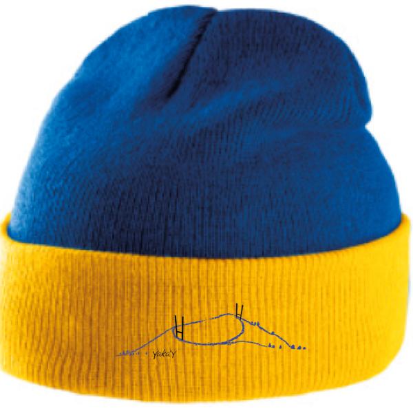 bonnet bleu et jaune